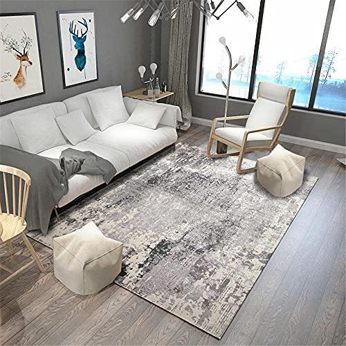 La alfombras alfombras Modernas Alfombra Que no se decolora del Estilo de la Pintura al óleo del Arte de la Tinta Gris y Crema Antideslizantes para alfombras alfombras Oficina 60*160cm