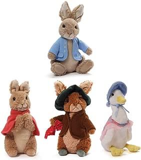 GUND Classic Mini Beatrix Potter Plush Collection: Peter Rabbit, Flopsy Bunny, Benjamin Bunny and Jemima Puddle-Duck (5