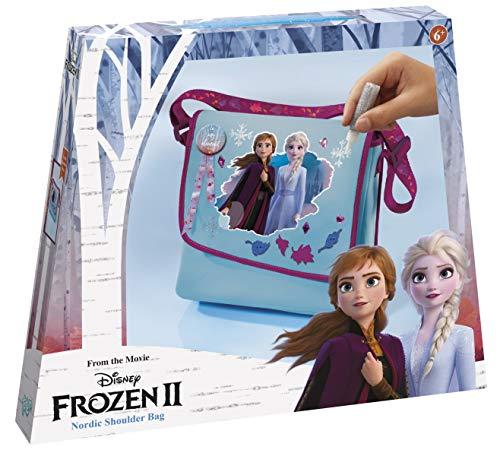 Disney Frozen II Do It Yourself Schultertasche: Umhänge-Tasche zum Selber Verzieren mit Plastikdiamanten, Frozen 3D Applikate, Glitzerleim und Frozen-Band