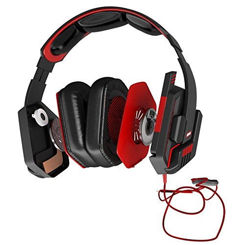 Mars Gaming MH4V2 - Auriculares gaming (surround 7.2, iluminación LED, drivers neodimio 50mm con vibración, drivers Sensus, micrófono plegable, cancelación de ruido, caja de control, USB, PC / PS4)