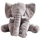 Kaliya XXL Peluche éléphant géant Peluche poupée Grande Taille Gris 60cm