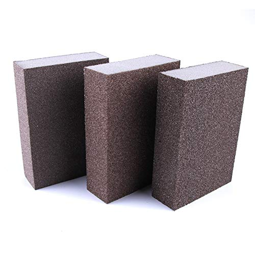 Sanding Sponges Sanding Blocks of Coarse Medium Fine(80 100 120 Grit) for Wood Furniture Finishing Drywall Painting Automotive Polishing and Pot Pan Metal Sanding Brush Glasses Dry or Wet Sanding
