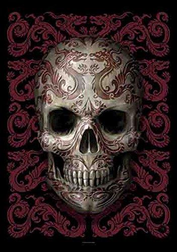 Skull Dragon Tête de Mort Symbole Dragon – poster drapeau 100% polyester – Taille 75 x 110 cm