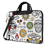 Bolso para Ordenador portátil con símbolos Mexicanos de Salsa, maletín de Negocios