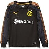 PUMA Kinder BVB GK Torwart Shirt, Black-Fluo Orange, 164