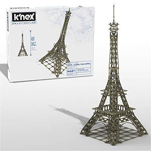 K#039NEX Architecture: Eiffel Tower  Build IT Big  Collectible Building Set for Adults amp Kids 9  New  1462 Pieces  2 1/2 Feet Tall  Amazon Exclusive