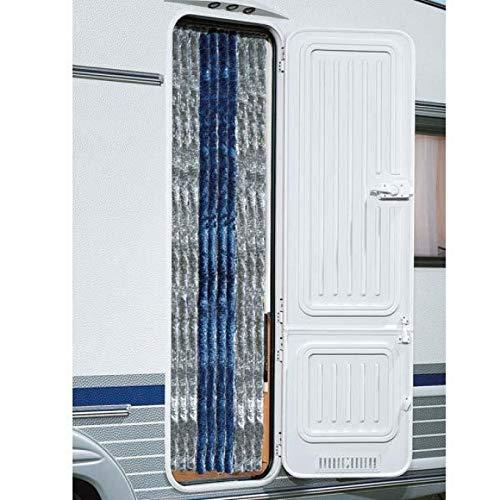 BERGER Chenille-Flauschvorhang Türvorhang Wohnwagen Reisemobil Vorhang Insektenschutz Sichtschutz