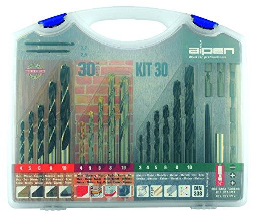 Alpen 800230100 Bohrer und Schraubensatz