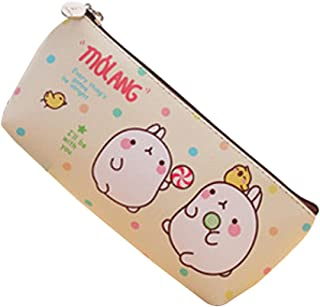 Idyandyans Cute Kawaii Molang Rabbit Waterproof Storage Pen Pencil Bag Stationery