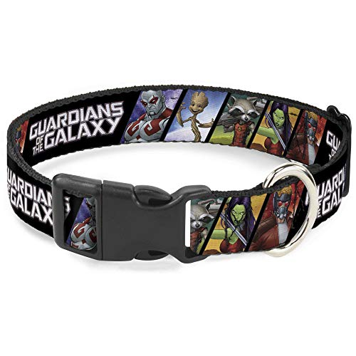 Buckle-Down Hundehalsband, Kunststoff, mit Clip, Guardians of The Galaxy, 5 Figuren, 22,9 bis 38,1 cm, 1,3 cm breit