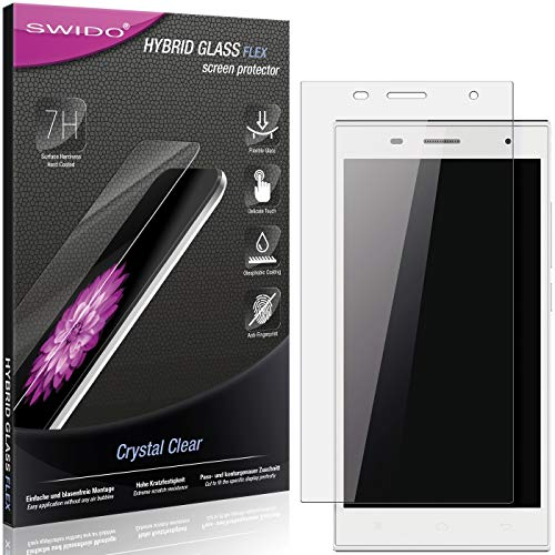 SWIDO Panzerglas Schutzfolie kompatibel mit Hisense HS-U988 Bildschirmschutz-Folie & Glas = biegsames HYBRIDGLAS, splitterfrei, Anti-Fingerprint KLAR - HD-Clear
