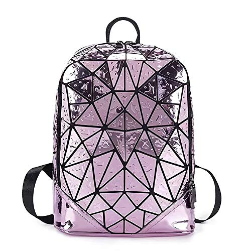 XArtfacnt Japanese Fashion Backpack Water Drop Laser Shoulder Bag Geometric Stitching Waterproof Suitable for School Men And Women Outdoor,B