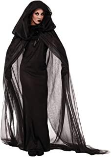 Women Halloween Witch Costume Dark Ghost Dress Sorceress Dress for Cosplay Size XXL