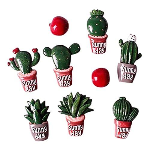 20 Pezzi Calamita Magnete In Resina Cactus Bomboniera Tema Pianta Grassa Sacchetto Gadget
