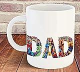 Tazza con scritta 'Dad Supereroe', 311,8 ml, per compleanno, Natale, festa del papà, regalo Marvel Daddy, 325 ml