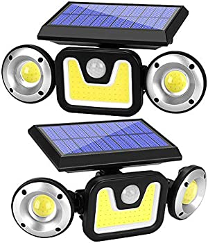 2-Pack Yomisga Wireless Motion Security Solar Lights