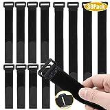 Fascette Velcr, Fascette Cavi, 30pcs Fascette per Cavi Riutilizzabili Fissaggio Corda Cavo Titolare Cavi Organizzatore Fastener, 3 Diverse Dimensioni