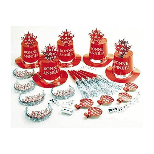 Widmann Kit de cotillons hologramme rouge bonne année