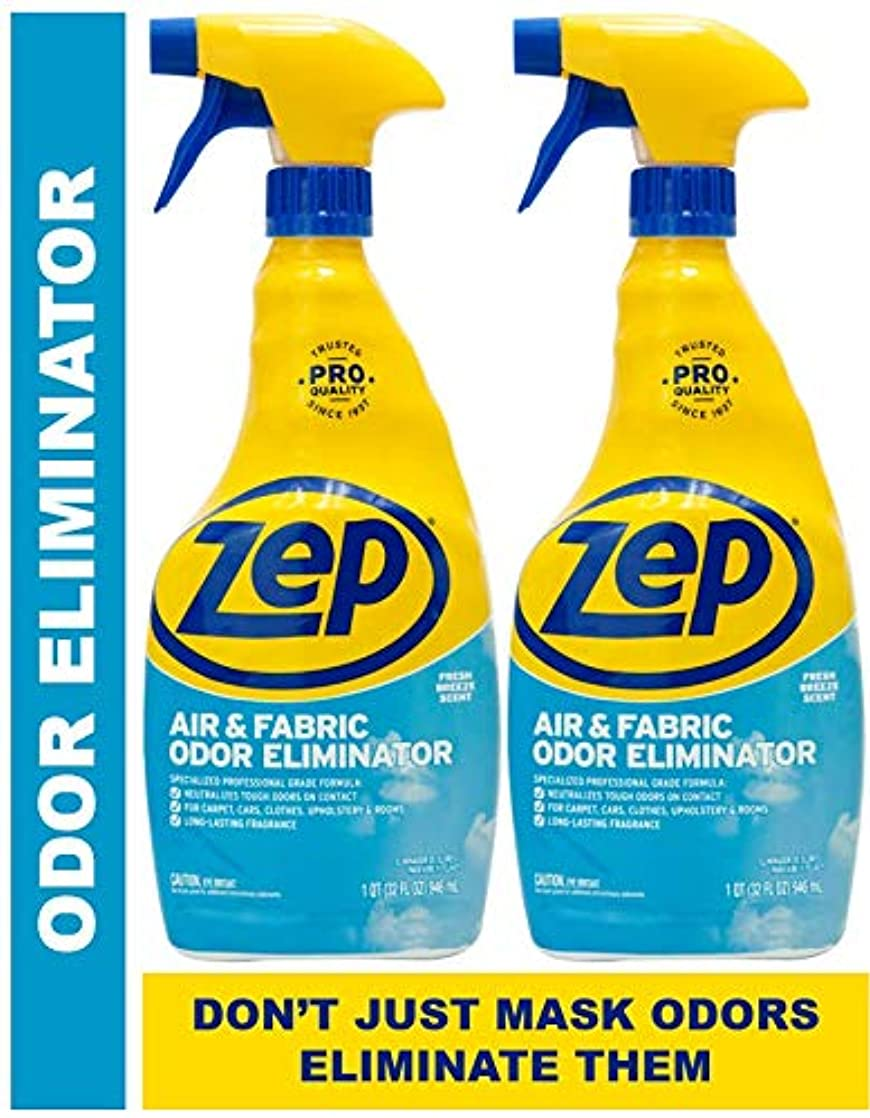 Zep Air and Fabric Odor Eliminator 32 Ounce (Pack of 2) - Eliminates Odors at The Source vvzmtqwb84414