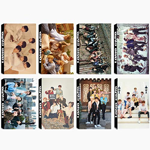 8 Pack/240 Pcs BTS Lomo Card KPOP Bangtan Boys Photocards LOVE YOURSELF Tear, YOU NEVER WALK ALONE, WINGS Greeting Card with Postcards Box