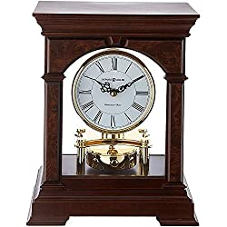 Howard Miller Statesboro Mantel Clock 635-167 – Cherry Bordeaux Wood & Quartz Single Chime Movement