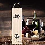 Caisse de vin rouge délicate en bois avec boîte de rangement de vin en corde portable facile à transporter pour les patrons
