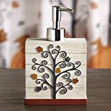 The Lakeside Collection Plaid Pumpkin Soap or Lotion Hand Pump Dispenser with Autumn Motif