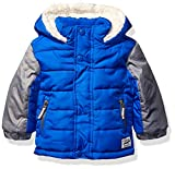 Osh Kosh Baby Boys Heavyweight Winter Jacket W/Sherpa Lining, Blue Odyssey/Grey, 12Mo