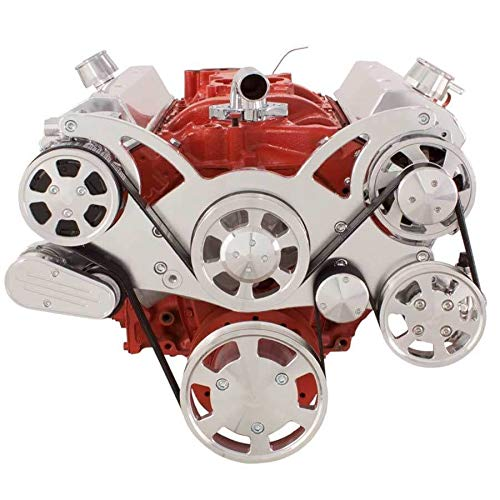 Small Block Chevy All Inclusive Serpentine Kit for 283 302 305 327 350 400 SBC Engines