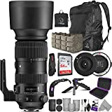 Sigma 60-600mm f/4.5-6.3 DG OS HSM Sports Lens for Canon EF + Sigma USB Dock with Altura Photo Advanced Accessory and Travel Bundle