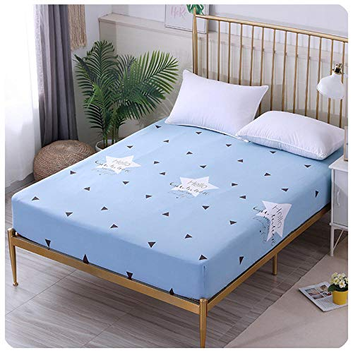 CYYyang Bed Sheets Polyester Cotton Blend Soft and Bed sheet cartoon single piece all inclusive-6_135*200+30