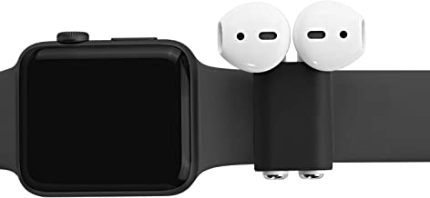 TXEsign Airpods Headset Holder / Organizer Compatible with AirPods Headset and Watch Band (Silicone Holder, Dark Grey)