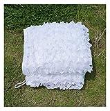 Rete Mimetica Rete Bianca del cammuffamento, Rete del cammuffamento del Campeggio Adatta a Caccia Woodland Snow Hidden (Size : 3 * 3m)