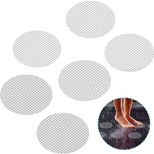 DanceWhale 20 pcs Transparentes Pegatinas Antideslizantes para Bañera, Ducha y Escaleras 10cm de Diámetro Adhesivos Alfombrilla Seguro para Bebe y Adulto