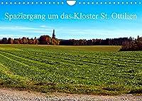 Spaziergang um das Kloster St. Ottilien (Wandkalender 2022 DIN A4 quer): Die landschaftliche Schoenheit um das Kloster St. Ottilien in Oberbayern. (Monatskalender, 14 Seiten )
