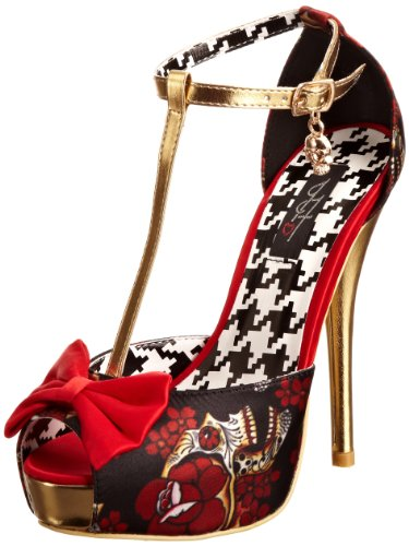 Iron Fist Death Dance Platform - Zapatos de tacón de Poliuretano Mujer, Color Negro, Talla 38.5 (6 UK)