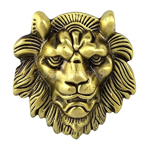 HQYYDS Corbata bolo Cinturón de Cabeza Grande Cinturón de Hebilla de Oro Bccessories Estilo Animal Vaquero Occidental