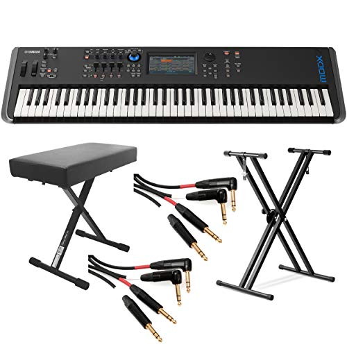 Buy Bargain Yamaha MODX8 88-Key Weighted Action Synthesizer (With Stand, Bench & Mogami Gold Key Bal...