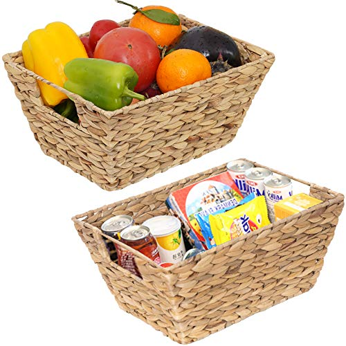 2 Pack of Natural Handwoven Stackable Storage Baskets Only $14.99 (Retail $35.99)