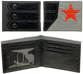 Bucky Captain America The Winter Soldier Red Star Wallet