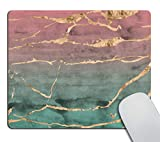 Smooffly Rose Gold Marble Mouse pad Design with Watercolor Gradient Texture Mousepad Non-Slip Rubber Gaming Mouse Pad Rectangle Mouse Pads for Computers Laptop