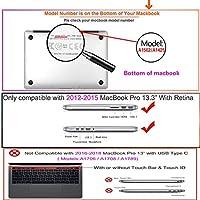 FULY-CASE プラスチック製のウルトラスリムライトハードシェルケースカットアウトデザイン対応MacBook Pro 13インチRetinaディスプレイCD-ROMなしUSキーボードカバー A1425/A1502 (パイナップル 0399)
