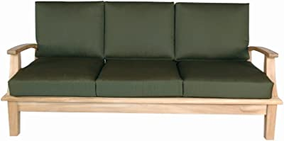 Anderson Teak Brianna Deep Seating Sofa with Cushion, Linen Canvas