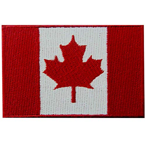 Aufnäher mit Kanada-Flagge, bestickt, mit Klettverschluss