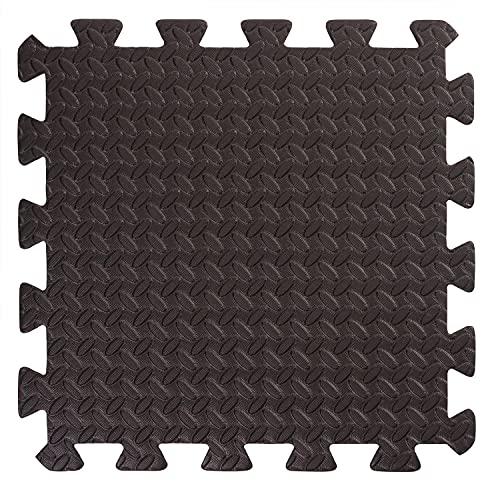 BodenMax CRS-PL3010BLKST-18 Tapete colchoneta Protector de Espuma para Gimnasio Yoga o habitacion de niños 30x30x1 cm 18 Piezas de Color Negro