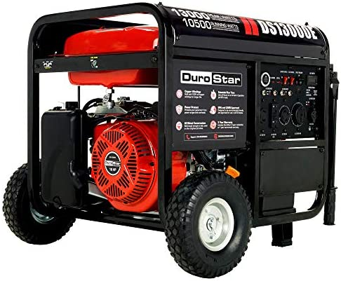 DuroStar DS13000E Gas Powered Portable Generator 13000 Watt Electric Start Home Back Up RV Ready product image