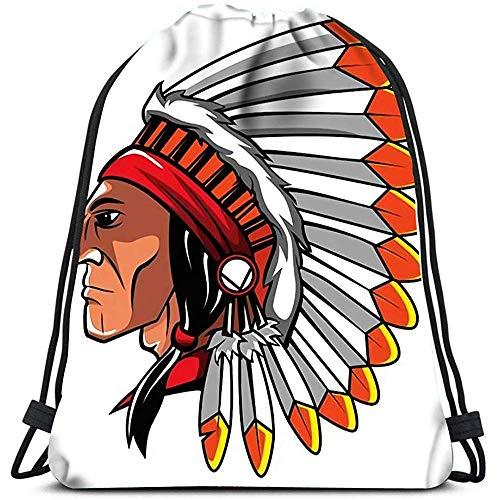Valender Sacs à Dos Avec Cordon de serrage Sacs Sport Cinch Sacs Apache Head