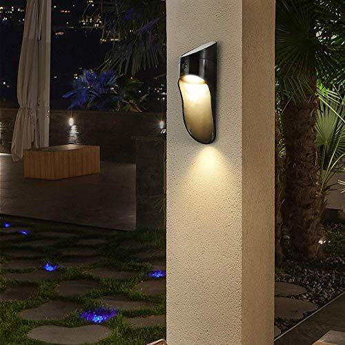 Boutique indoor lighting - LED de 3W moderno Lámpara de pared exterior 1-Luz de pared de luz solar luz creativa Lámpara de pared carcasa de fundición ABS impermeable pared exterior lámpara de luz inte