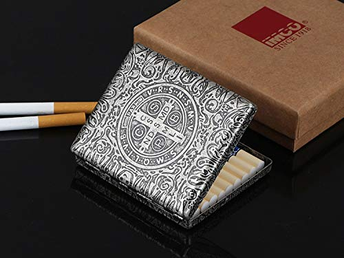 XIAOXIA Caja De Cigarrillo De Cigarrillo De 20 Cigarrillos De Cobre Puro Y Femenino Ultra Delgado Caja De Cigarrillo De La Funda De Cigarrillo De La Funda Creativa (Color : Silver)