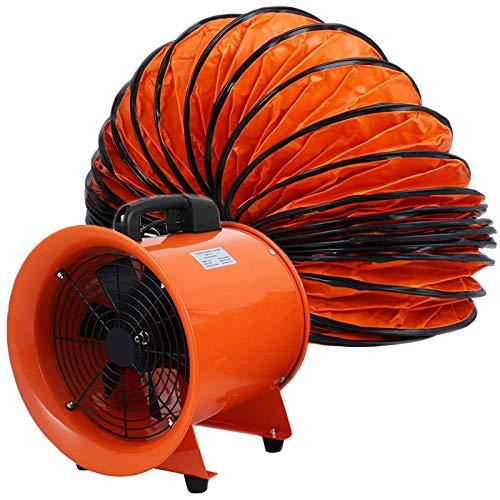 VEVOR Nuevo Extractor Ventilador Industrial Portátil 520W, Ventilador Profesional para Construcción 300mm, Ventilador de Piso Industrial Ventilador Industrial, con5m de Manguera de Conducto